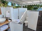 Outside Bathroom Main House - Pelican Peak Villa - Tortola Virgin Islands (GB)
