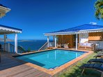 Pool and Guest House - Pelican Peak Villa - Tortola Virgin Islands (GB)