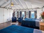 Upstairs Bedroom Main House - Pelican Peak Villa - Tortola Virgin Islands (GB)