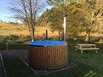 Juniper Pod has private use of hot tub - £12 per night