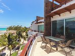 Your private balcony with ocean views and BBQ