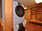 Washer & dryer on lower level