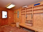 Mud room for drying ski gear