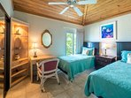 Twin bedroom with view of Seven Mile Beach