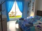 Habitación azul cama 1'50m