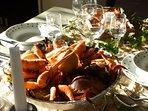 possibilité de commander votre plateau de fruits de mer livré au gîte