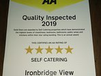 2019 5 Star Gold AA - Recognition of the high levels of quality, comfort & cleanliness we provide