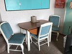 Recently recovered dinette chairs (4).