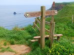Staithes is an ideal base for exploring the Cleveland Way.