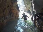 Canyoning in the Neda river