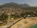 Kyparissia beach and town