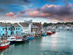 The busy coastal town of Weymouth is great fun and only 30 minutes away.