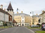 Poundbury is a new town just outside Dorchester, built on land owned by the Prince of Wales.