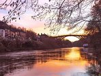 Beautiful view of the Iron Bridge. Photo from English Heritage