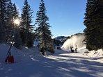 Skiing in January 2019