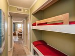 Kids love the bunkbeds