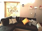 Tosca mural in living room