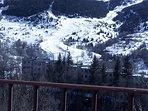 Pistas de esquí vistas desde la terraza.