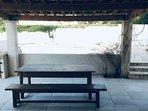 Terrasse couverte ombragée