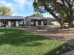 Our bunkhouses surround a large grove of Cottonwood trees. Come have a picnic