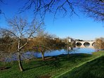 Down by the river at Bergerac in February.