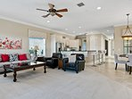 Lovely bright large Living Room and open Kitchen area