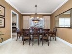 Large Dining Area for all the family to eat together