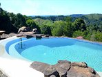 Wet-edged pool with views to forever