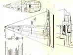 Desenho técnico do nosso veleiro Karu projeto Velamar Albatroz 27 pés