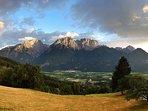 Ausblick vor dem Haus...die Dolomiten
