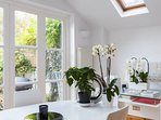 Lovely bright dining area
