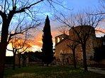 Atardecer en el Santuario de Foix