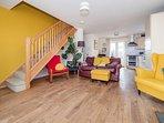 Open plan living at Beach House Barn & Beach