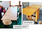 Autour de la grande table prennent place 11 personnes;2-4 peuvent utiliser une table annexedépliable
