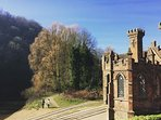 Ironbridge Gorge museum, 2 minute walk from the house