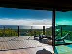 180 degree ocean views from every room in the beach house
