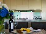 Entertain in style in the fully equipped gourmet kitchen