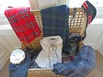 Outlander or Highlander? Have fun with our dress up box. Kilts, sporrans, the lot.