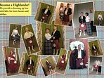 Past guests enjoying being braw lassies and laddies.