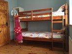 Bedroom 4 - Children's bunk bedroom, sleeps 4, left side of room, bathroom next door