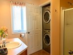 Ground floor full bathroom with washer and dryer