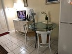 Cable TV. Free high speed WiFi. Fan. Dining table
