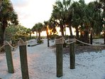 Our private entry, Captiva Castaways, to the beach.