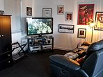 55 in TV with Direct TV, HBO, NFL package, surround sound and blue ray
