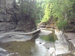 Another view of the Gorge Trail at Treman Park, just a few minutes walk from the cottage.