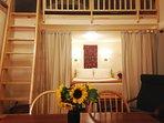 Enjoy the elegant simplicity of Owl Moon Cottage's interior design.