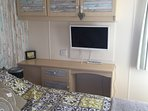 MAIN BEDROOM WITH TV