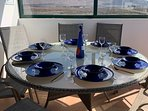 outside dining for 8 people