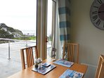 Sea views from dining table