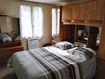 chambre sur jardin avec grand couchage de haute qualité